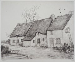 Houses in Brittany - Original Etching, Handsigned