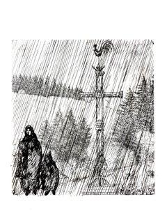 Jean Émile Laboureur - Under the Cross - Original Etching