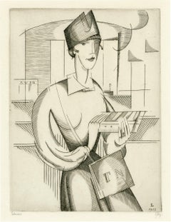 La Receveuse (Bill Collector) —French Cubism