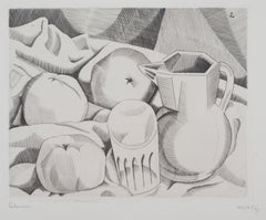 Tribute to Cezanne : Three Apples - Original Etching, Handsigned