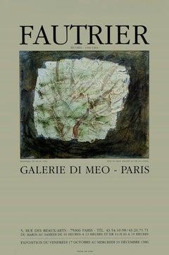 Fautrier - Exhibition Poster Galerie Di Meo - 1986