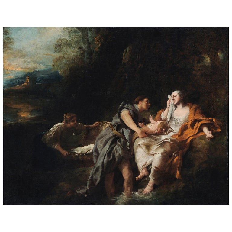 Finding of Moses - Rococo Painting by Jean François de Troy