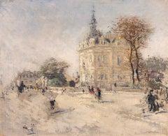 La Mairie d'Asnières-sur-Seine - JEAN-FRANÇOIS RAFFAËLLI - Oil on Canvas