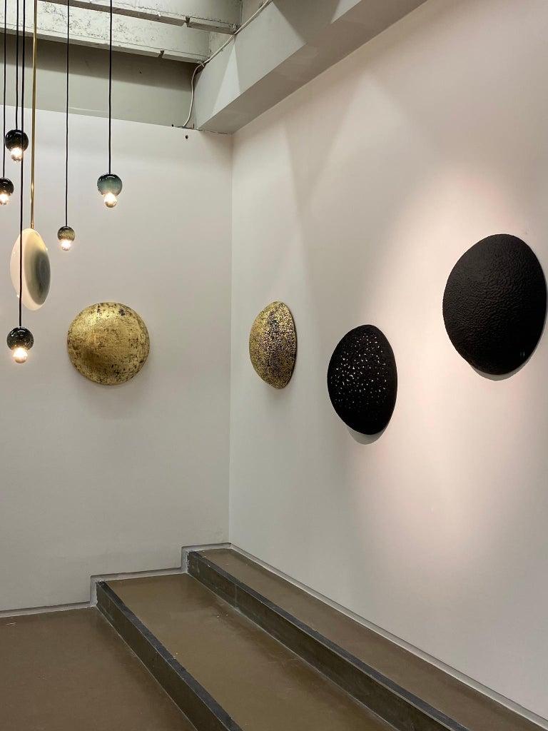 Minimalist Jean François Reboul Starry Night in Concrete, Paper and Pigments Sculpture For Sale