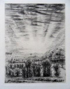 Superlative Sunrise - Original etching, 1943