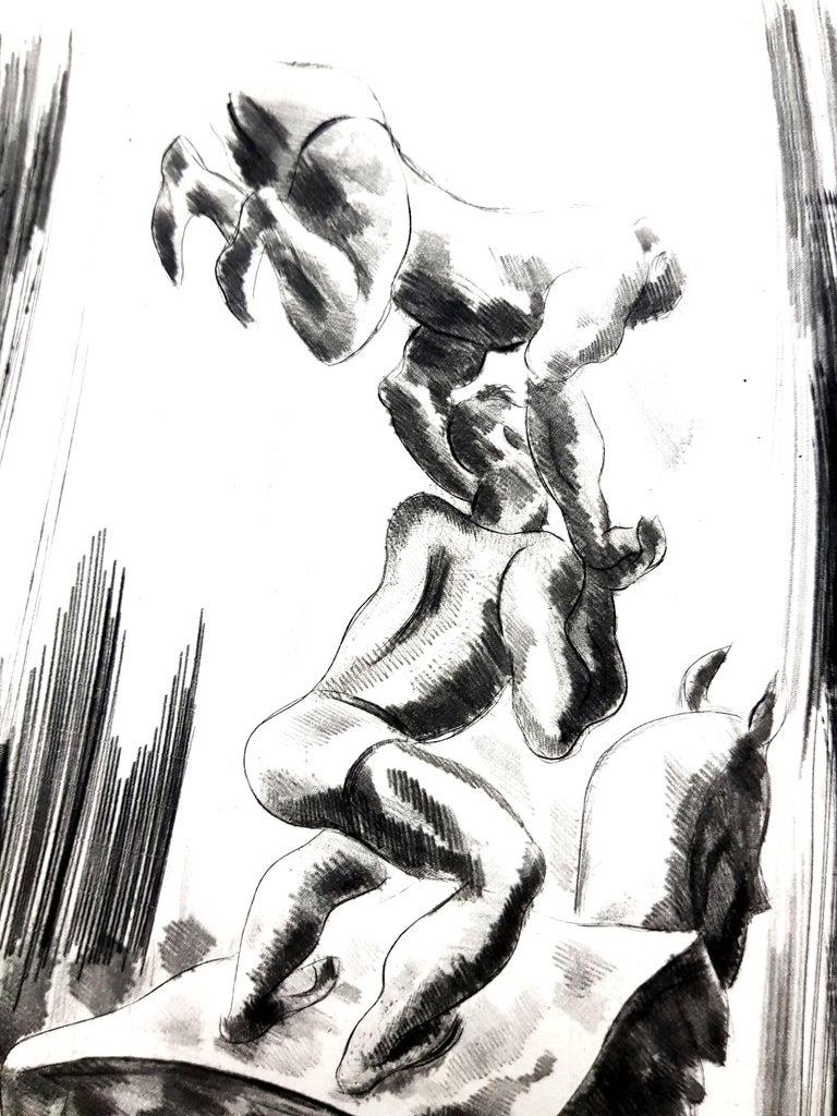 Jean Gabriel Daragnès - Circus - Original Etching - Black Portrait Print by Jean Gabriel Daragnès
