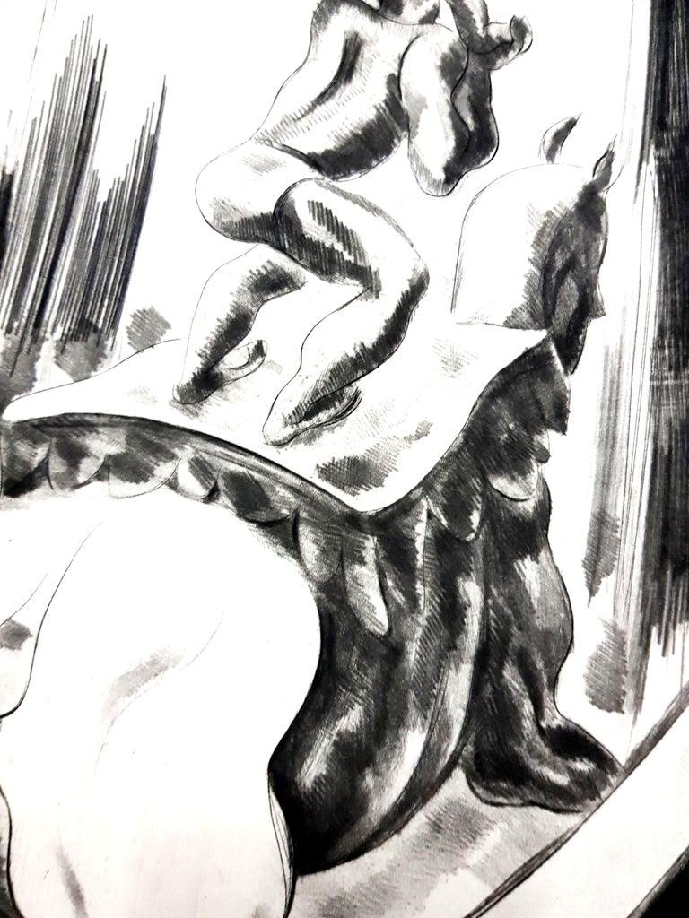 Jean Gabriel Daragnès - Circus - Original Etching Paris, Le Gerbier, 1946 Edition of 340  Jean-Gabriel Daragnes, French (1886 - 1950)  Daragnes Jean-Gabriel Daragnès was highly regarded both as a printmaker – especially of wood engravings and