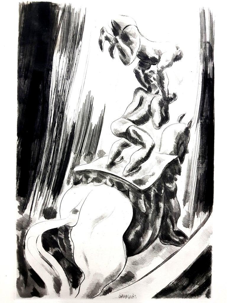 Jean Gabriel Daragnès - Circus - Original Etching - Print by Jean Gabriel Daragnès