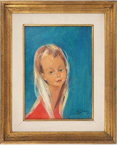 Blond Hair Girl - Original handsigned oil painting
