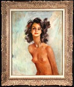 Fabienne - Post Impressionist Oil, Portrait of a Nude by Jean-Gabriel Domergue