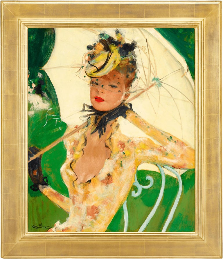 Green Park - Painting by Jean-Gabriel Domergue
