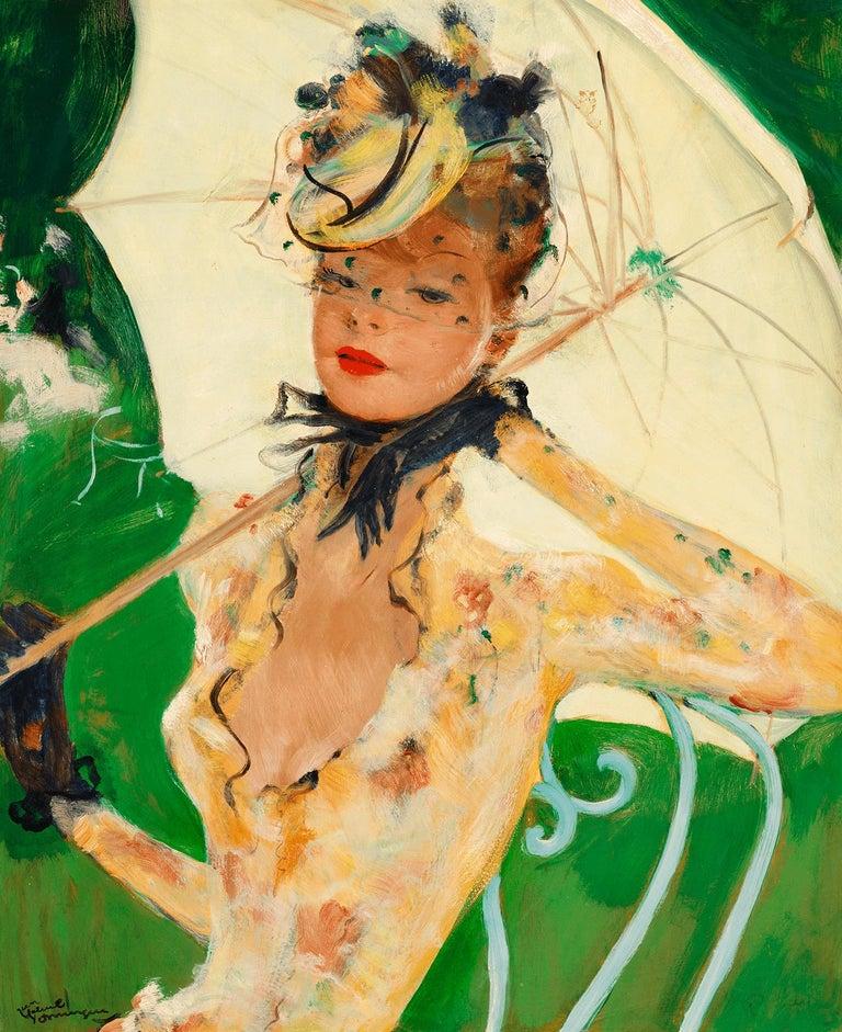 Jean-Gabriel Domergue Portrait Painting - Green Park