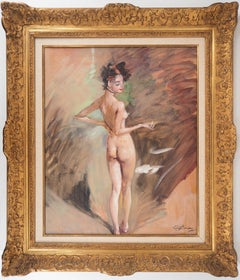 The Model - Original handsigned oil painting