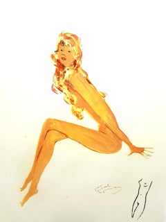 Domergue - Red Hair Elegance - Original Signed Lithograph