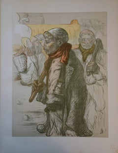 Pit Workers - Original lithograph - 1897