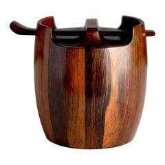 Jean Gillon Jacaranda Tobacco Jar, Brazilian Wood Art Humidor, circa 1965