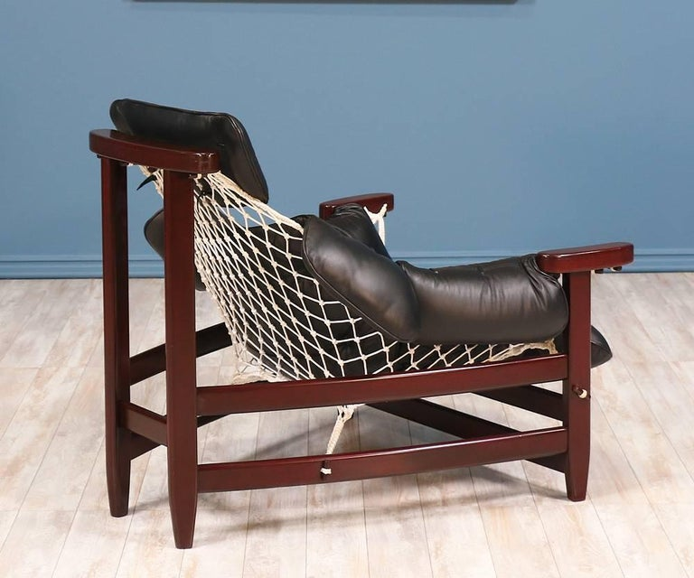 "American Jean Gillon ""Jangada"" Lounge Chair for Italma Wood Art For Sale"