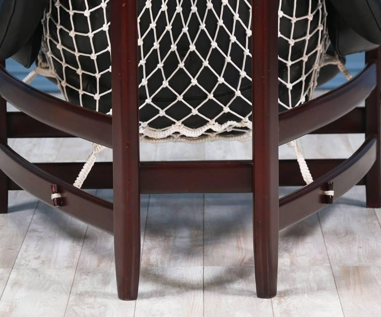 "Jean Gillon ""Jangada"" Lounge Chair for Italma Wood Art For Sale 1"