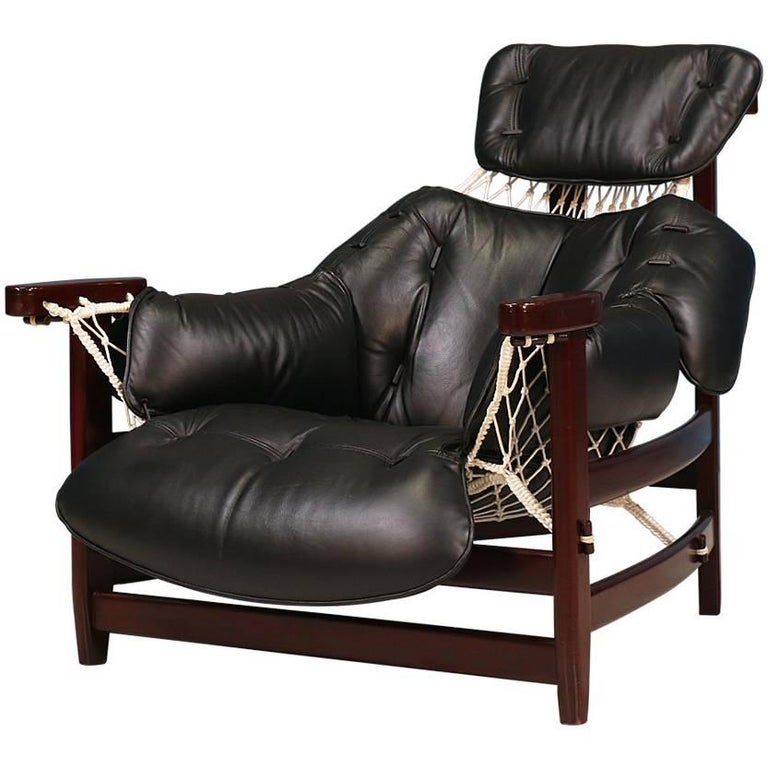 "Jean Gillon ""Jangada"" Lounge Chair for Italma Wood Art For Sale"