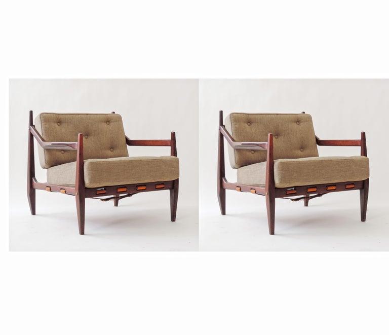 Jean Gillon pair of armchairs, Brazil, 1960.