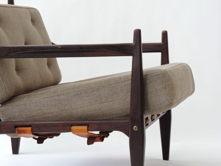 Mid-Century Modern Jean Gillon Pair of Armchairs, Brazil, 1960 For Sale