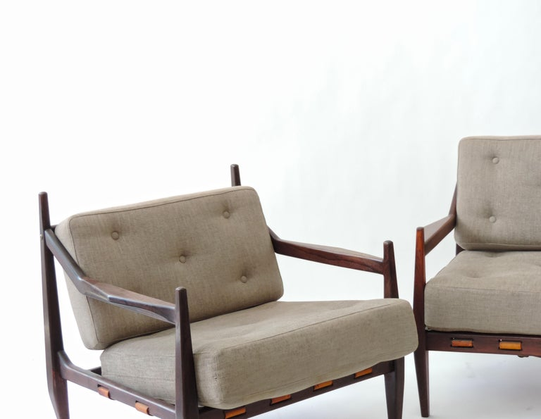 Mid-20th Century Jean Gillon Pair of Armchairs, Brazil, 1960 For Sale
