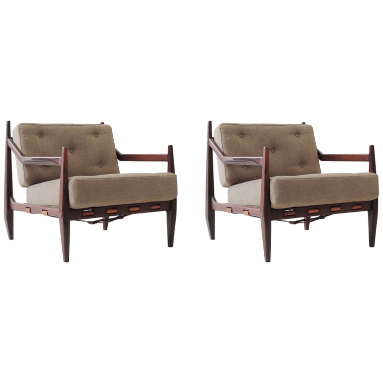 Jean Gillon Pair of Armchairs, Brazil, 1960 For Sale