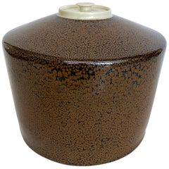 Jean Girel Mottled Glazed Porcelain Vase / Box