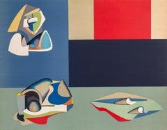 Cubist Composition, Lithograph by Jean Helion
