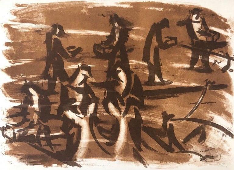 Jean Helion Abstract Print - Force de la mer VI