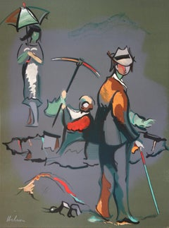 Gold Panners - Original handsigned lithograph