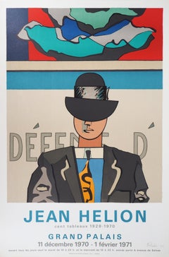 Man with Melon Hat - Original handsigned lithograph