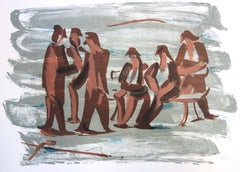 Meeting in a Park - Original handsigned lithograph - 50 copies