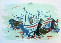 Three Boats - Original handsigned lithograph - 50 copies