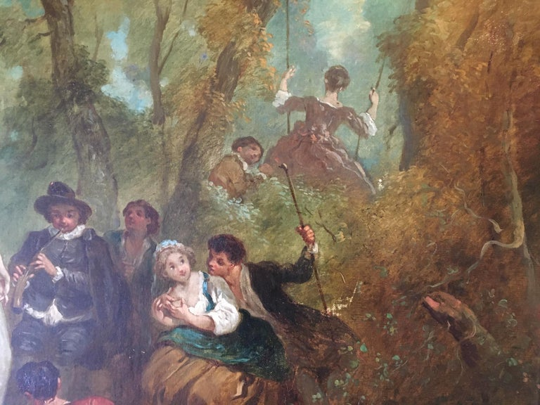 Rococo Jean Antoine Watteau, Circle of, 18th Century Large Old Master Painting, France For Sale