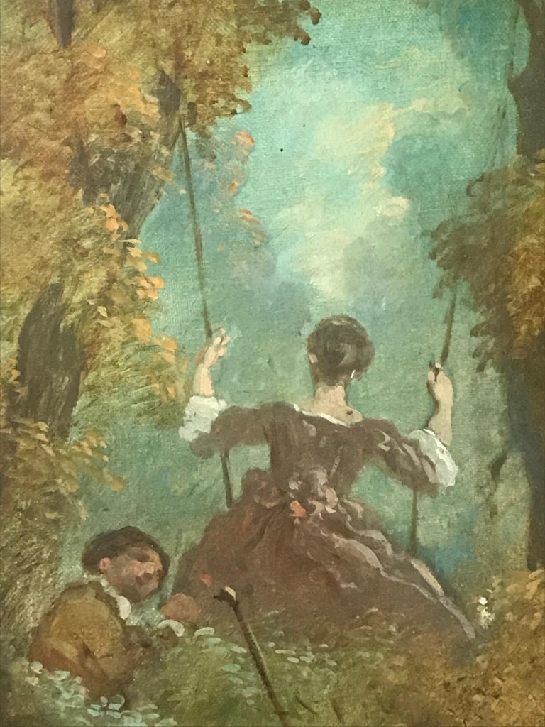 French Jean Antoine Watteau, Circle of, 18th Century Large Old Master Painting, France For Sale