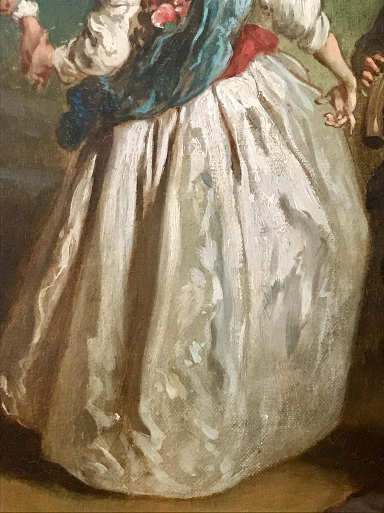 18th Century and Earlier Jean Antoine Watteau, Circle of, 18th Century Large Old Master Painting, France For Sale