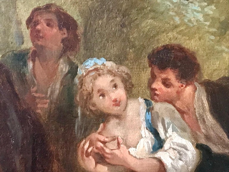 Canvas Jean Antoine Watteau, Circle of, 18th Century Large Old Master Painting, France For Sale