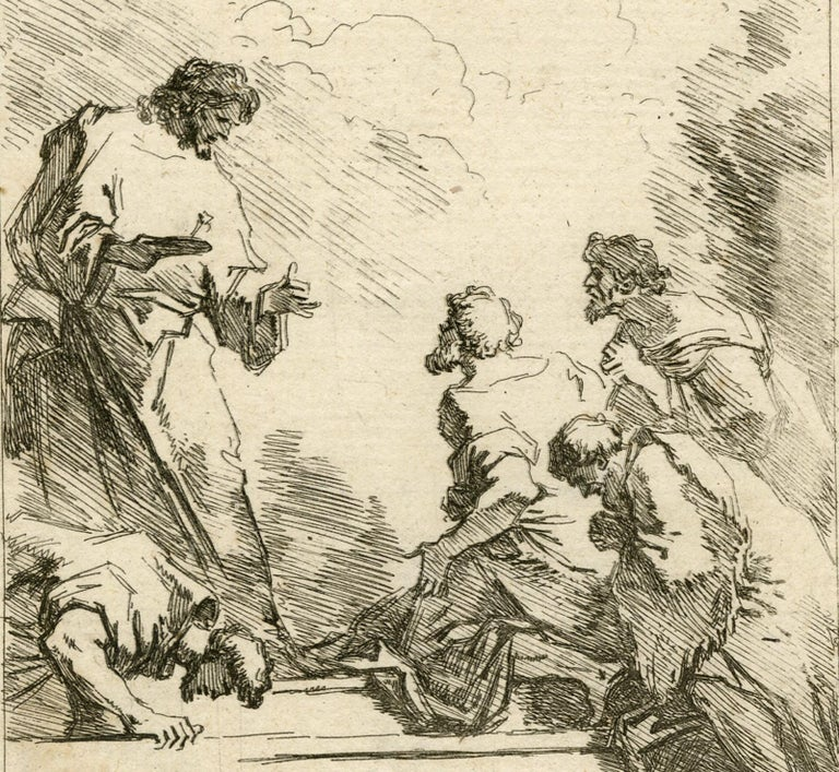 A religious scene by Jean Honore Fragonard - Etching - 18th Century - Contemporary Print by Jean-Honoré Fragonard