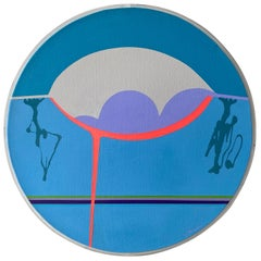 """Jean Hyson """"The Foundation"""", Small Round Abstract Minimalist Painting, 1969"""