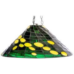 Jean Jacques Duval 'French/American' Glass Artisan, Leaded Glass Fixture