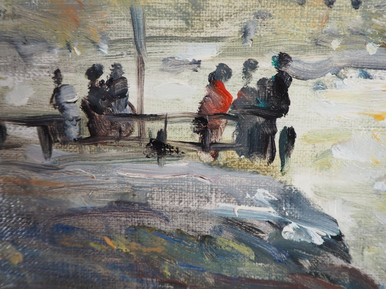 Sailings in Havre - Oil On Canvas Hansigned For Sale 2