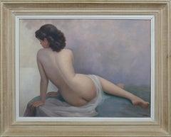 """Jean Jannel, """"Sulking"""", Oil on Canvas"""