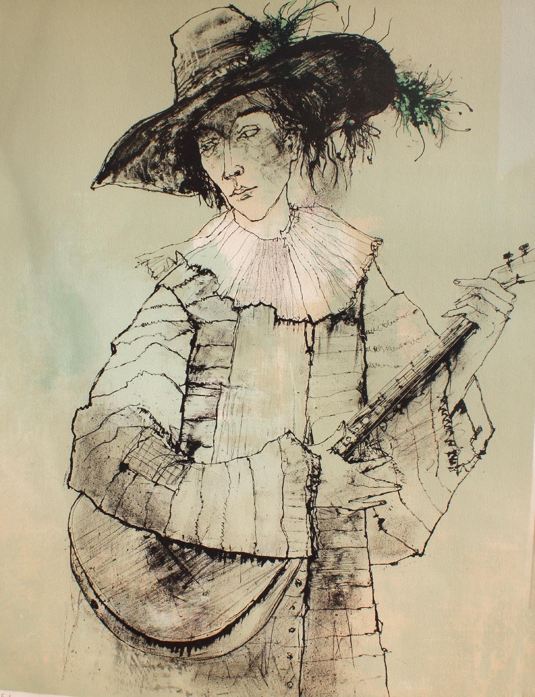 The Guitarist, by Jean Jansem