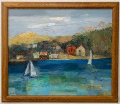 "Jean Kalisch ""Lake Tahoe"" Original Oil Painting c.1970"