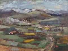 "Jean Kalisch ""Through the Valley"" Landscape Impressionist Painting"