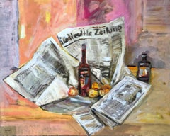 Nature morte au journal - Still life with newspaper