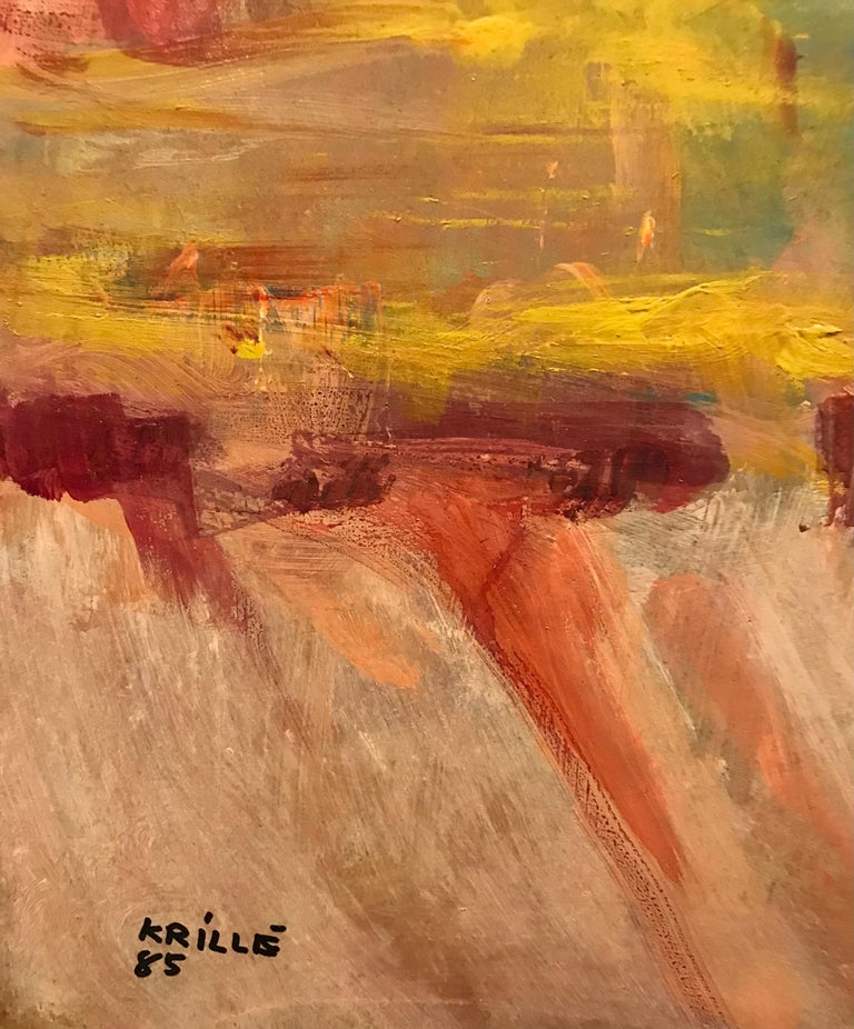 Tableau n°12 - Abstract Expressionist Painting by Jean Krille