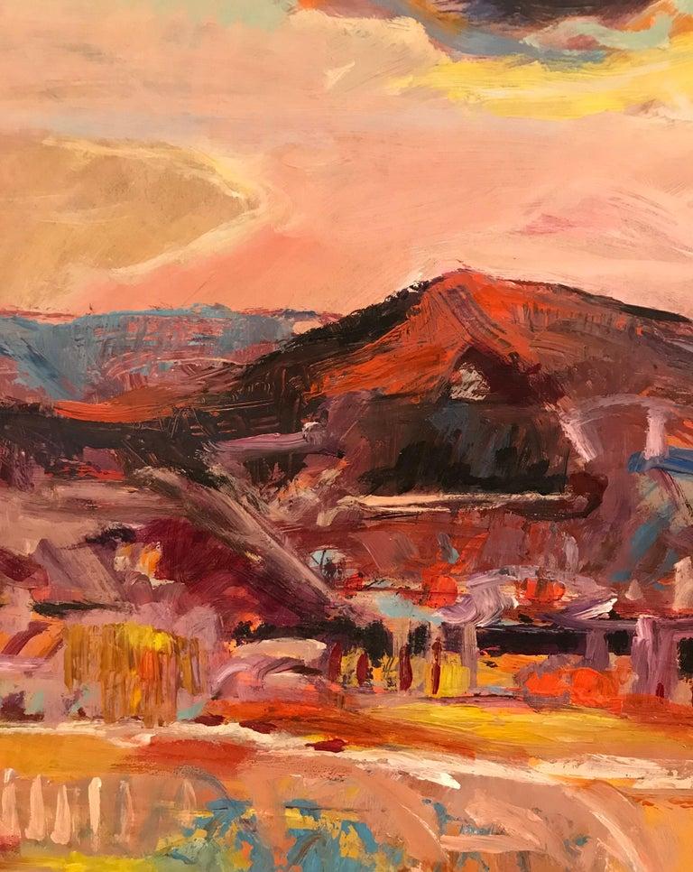 Tableau n°12 - Brown Landscape Painting by Jean Krille