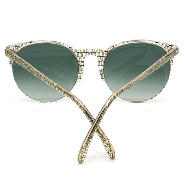 Jean LaFont round vintage sunglasses, France 80s In New Condition For Sale In Feasterville Trevose, PA